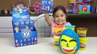 getlinkyoutube.com-NEW CUTE DISNEY INSIDE OUT MYSTERY MINIS SURPRISE TOYS FIGURES Joy Play Doh Surprise Egg Toy Opening