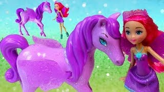 getlinkyoutube.com-Barbie Mariposa and The Fairy Princess Sprite Doll Pegasus Pony Toy Review