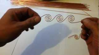 getlinkyoutube.com-Making multiple coils for Orgonite TB/SBB
