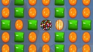 getlinkyoutube.com-Candy Crush - CRAZY GREEN & ORANGE CANDIES COMBO!!