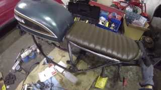 getlinkyoutube.com-'75 Honda CB550 Cafe Racer Build Pt. 28 New Seat Fitment Test
