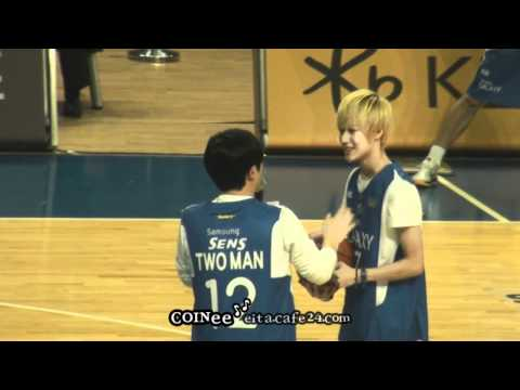 [fancam] 111016 SHINee basketball shooting @ Basketball Opening Ceremony