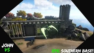 getlinkyoutube.com-Ark: Survival Evolved - Herbivore Island Epic Base Tour!
