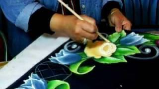 getlinkyoutube.com-Pintura sobre tela-Rosa.wmv