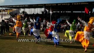 getlinkyoutube.com-Splendid Bhangra performance by folk dancers of Punjab