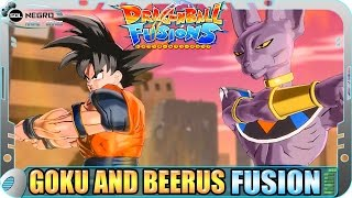 getlinkyoutube.com-Goku and Beerus (Bills) EX FUSION: Gorus VS Baby Goku, Vegeta, Gogeta Dragon Ball Fusions Xenoverse
