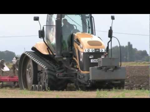 Cat. Challenger ploughing Norfolk Fenland 01/10/2012.