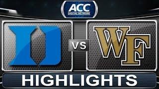 getlinkyoutube.com-Duke vs Wake Forest | 2014 ACC Basketball Highlights
