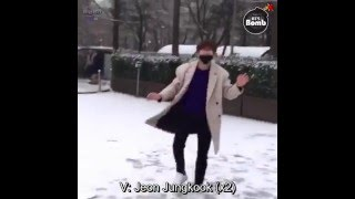 getlinkyoutube.com-[ENG SUB] Bangtan bomb- Snowball fight Jimin's cam