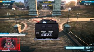 """getlinkyoutube.com-NFS Most Wanted 2012: Gold Medal """"Liberty Park"""" Ambush Event w/ S.W.A.T Armored Van Pro Mods"""
