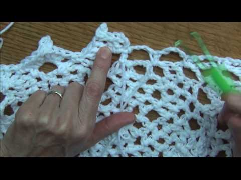 Crochet a  Free Form Top -  Border Part 8 of 10