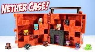 getlinkyoutube.com-Minecraft Mini-Figure Nether World Collector Case with Portal