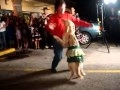 DANCING  DOG , DANCES MERINGUE ON  2 FEET WITH  HUMAN PARTNER