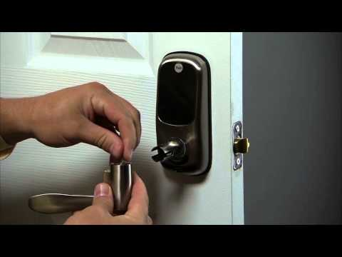 Yale Real Living Lever Lock Installation - Install Exterior Lever 05