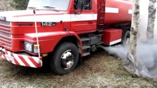 Scania T142 cold start