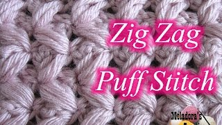 getlinkyoutube.com-Zig Zag Puff Stitch - Left Handed Crochet Tutorial