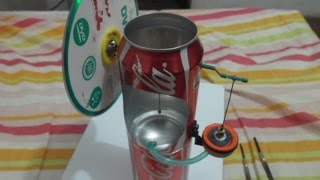 getlinkyoutube.com-Motor Stirling con latas de gaseosa - Soda Can Engine - самодельный двигатель Стирлинга
