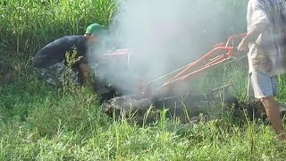 getlinkyoutube.com-Trying Two Wheel Tractor And Stuck In Mud