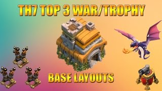 getlinkyoutube.com-Clash of Clans | Top 3 Town Hall 7 (TH7) War/Trophy Base Layouts WITH 3 AIR DEFENSE