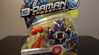 getlinkyoutube.com-Hasbro B-Daman Crossfire LIGHTNING DRACYAN unboxing! Courtesy of ZANKYE 2.0!