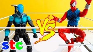 getlinkyoutube.com-Marvel Legends Scarlet Spider vs Electro