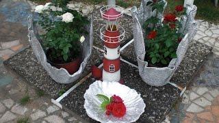 getlinkyoutube.com-Beton giessen - Blumenkübel aus Handtuch und Bodenausgleichmasse