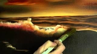 getlinkyoutube.com-Two Colour Sea - Painting Lesson
