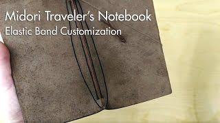 getlinkyoutube.com-Midori Traveler's Notebook - Elastic Band Customization