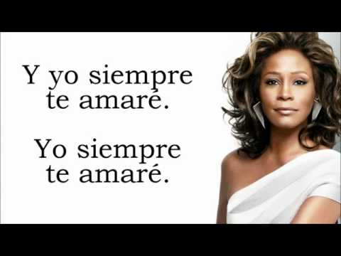 i will always love you whitney houston letra en espanol youtube