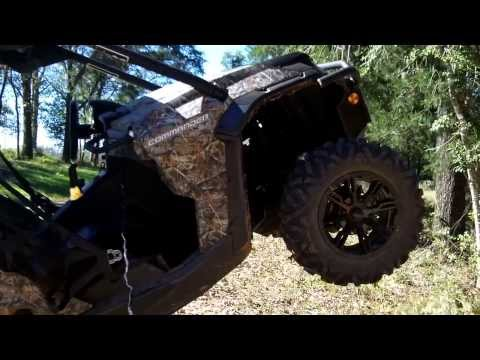 Can Am Commander 1000 Up a Tree With Warn Winch