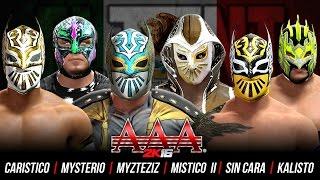 getlinkyoutube.com-Triplemania 2K16 : Rey Mysterio vs Sin Cara vs Mistico vs Myzteziz vs Kalisto vs Caristico