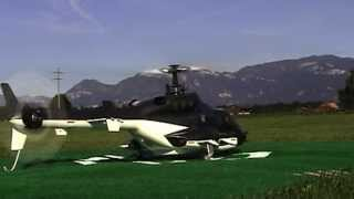 getlinkyoutube.com-Airwolf T-Rex 500 Rocket launch