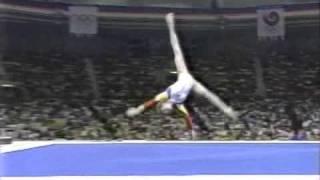 getlinkyoutube.com-Daniela Silivas - 1988 Seoul Olympic - FX