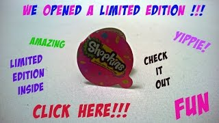 getlinkyoutube.com-New Limited Edition Shopkin! Shopkins 12 packs completed 1st collection.  Limted edition Shopkins!!!