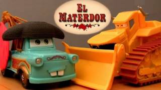 getlinkyoutube.com-El Materdor track playset with Chuy CARS TOON Mater's tall tales toys Disney Pixar El Chuy