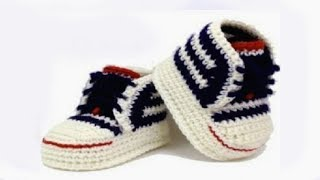 getlinkyoutube.com-DIY crochet sneakers tutorial //Vasilisa