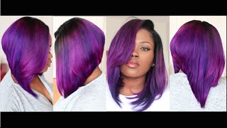 getlinkyoutube.com-Fun Violet Bob(Start to Finish Tutorial On Coloring, Cutting, & Styling A Bob Hairstyle)