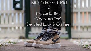 """getlinkyoutube.com-Nike Air Force 1 Mid x Riccardo Tisci """"Vachetta Tan"""" Detailed Look & On Feet!"""