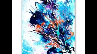 getlinkyoutube.com-Stunning abstract painting of flowers step by step art lesson and tutorial by Peter Dranitsin