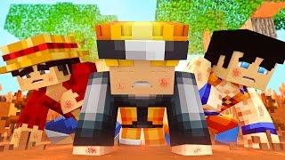 Minecraft PE: GOKU, LUFFY E NARUTO QUASE MORRERAM !! (Minecraft Pocket Cirurgia)