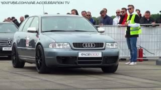 Audi S4 Bi Turbo 1200 HP HALF MILE Acceleration & Sound