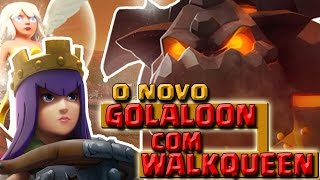 getlinkyoutube.com-NOVO GOLALOON CV9 COM WALKQUEEN - 3 ESTRELAS CV9 GUERRA | CLASH OF CLANS
