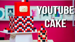 getlinkyoutube.com-How To Make A YOUTUBE CAKE with CHECKERBOARD SURPRISE INSIDE! Happy Birthday SUSAN!