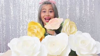 getlinkyoutube.com-How to make paper ROSE by Madammouth  สอนทำกุหลาบกระดาษ