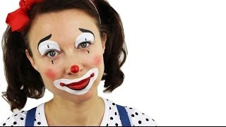 getlinkyoutube.com-Beginners Clown Face Painting Tutorial | Snazaroo