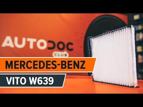 Wie MERCEDES-BENZ VIANO W639 Innenraumfilter wechseln TUTORIAL | AUTODOC
