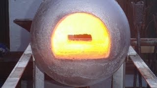 getlinkyoutube.com-How to build a simple gas forge. Making the shell and installing refractory, Tips and Tricks