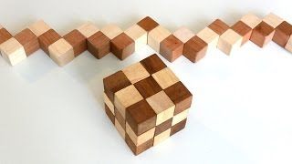 getlinkyoutube.com-Building a snake cube puzzle