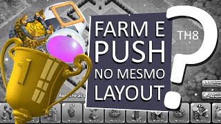 getlinkyoutube.com-CLASH OF CLANS | Layout FARM / PUSH - CV 8 | TH 8 layout
