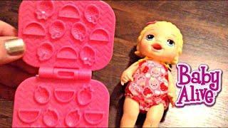 getlinkyoutube.com-Baby Alive Super Snackin' Lily Blonde Doll Unboxing
